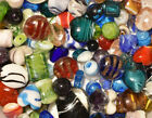 Lampwork Beads 3 LB Bulk Mixed Style  Colors Handmade Glass