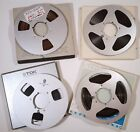 10.5 INCH REEL-TO-REEL TAPE LOT OF 4 METAL REELS TDK L-3600M AMPEX SCOTCH
