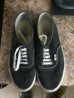 Classis Original Black Canvas Vans Off The Wall Size 8 Sneakers