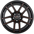 4 GWG ZERO 18 inch Black Red Mill Rims fits ACURA TSX 2004 2014