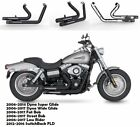 Fit for Harley Dyna Super Glide Wide Glide Slip On Pipes Muffler Exhaust B1