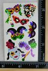 Hambly MARDI GRAS Stickers 1 2 SHEET NEW HARD TO FIND PRISMATIC MASKS