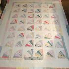 's Pastel Cotton Patchwork Quilt 76 X 92 As Is