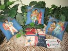 4 Patriotic fabric Shelf Sitters handmade 4th of July Bowl Fillers Home Decor