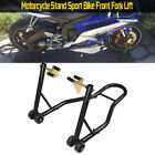 Motorcycle Sport Bike Front Wheel Chock Lift Stand For Universal Bike black BP