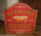 PIG*Farmers Meat Market*SIGN*Primitive/French Country Kitchen Farmhouse Decor