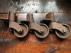 Industrial Cart Wheels Heavy Duty Casters Industrial Factory Antique Vintage
