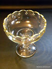 Indiana Glass Clear Teardrop Compote Footed Bowl