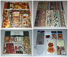 Huge Fall Scrapbook Lot Basic Grey Bo Bunny SEI Recollections 50+ Value