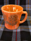 Rare Fire King Peach Luster floral pattern D handle mug