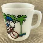 Fire King Snoopy Pedal Power Mug Anchor Hocking