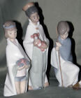 LLADRO CHILDRENS NATIVITY 3 WISEMEN 4673 4674 4675 NEW IN BOXES FAST SHIPPING