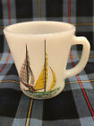 Ultra Rare Fire King Sailboats Mug 2 of 4 - Yellow Sails