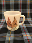Ultra Rare Fire King Sailboats Mug 3 of 4 - Brown Sails