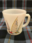 Ultra Rare Fire King Sailboats Mug 4 of 4 - White Sails