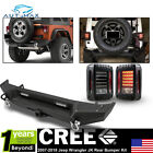 For 2007 2017 Jeep Wrangler JK Rear Bumper W 2 Receiver Hitch