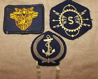 WW 2 FRENCH NAVY HAT BADGE AND ONE PATCH PLUS VINTAGE WEST POINT PATCH