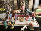 Vintage Antique Fontanini Nativity Set Spider Depose Italy 12 Pieces Ezra