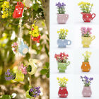 Colorful Artificial Flower Plants Fake Mini Potted Plant Home Office Decoration