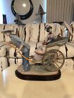 Large Asian Lladro Figurine #1383 ~ A Ride in China ~ Rickshaw Ride ~ Mint
