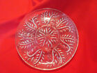 Vintage Large Round Divided Pressed Clear Glass Relish Platter Plate Serving