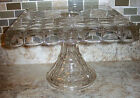 Vintage Indiana Constellation Clear Glass Square Pedestal 10
