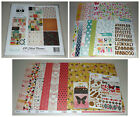 Scrapbook Kit Lot My Minds Eye Dear Lizzy Echo Park Brads Thickers More
