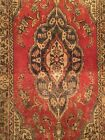 VINTAGE OLD COLLECTIBLE 100% WOOL ESTATE Hand Woven Area RUG Size 2'5