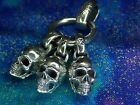 Heavy Solid Silver 925 Gothic Skull Ring Pendant After King Baby 203 Grams 285