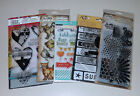 Lot of Clear Stamps  Stencils Tim Holtz Ranger Art C Recollections