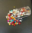 Acrylic flat back rhinestones gems beads with holes in mixed shapes sizes colors