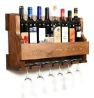 Wall Hanging Wine RackGlass Holder Rustic modern wall mounted wine rack