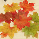 100 Pieces Artificial Autumn Maple Leaves Mixed Colored Maple Leaf Decoration