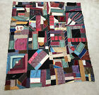 Late 1880s Antique Hand Quilted VICTORIAN CRAZY QUILT  Top 50