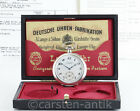 Excellent A. Lange & Söhne Silver Open face Box Certifikate pocket watch Germany