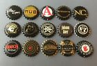 15 plastic lined beer bottle crown caps unused Pony Express Stoudts Avery