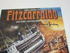 DIRECTOR WERNER HERZOG SIGNED FITZCARRALDO GERMAN MOVIE FILM POSTER w COA