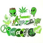 Green Weed Pot Leaf Stoner 420 Sticker Bomb Lot PVC Vinyl Decal Pack 20 pc