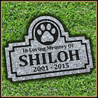 Pet Memorial Grave Marker 9 x 12 Engraved Headstone Dog Cat Gravestone