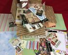 Mixed Lot of Scrapbook Craft Papers Stickers Supplies Etc SZ2