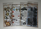 Lot of Tim Holtz Clear Stamps + Stencil