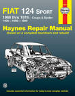 MANUAL FIAT 124 SPORT 1968-1978 COUPE SPIDER 1400 1600 1800 SHOP REPAIR HAYNES