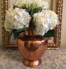 Antique French Copper Water Milk Pitcher Dovetailed Vase