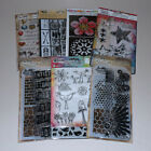 Lot of Clear Stamps  Stencils Tim Holtz Dylusions Art C  More