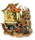 Grandeur Noel Musical Waterglobe Collectors Edition 2001 Nativity Scene