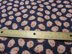 2 Yards Navy Blue with Pink Pigs Toss Flannel Fabric