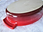 Le Creuset Stoneware 3 Quart Oval Cherry Red Casserole Baking Dish