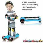 Kids Scooter Toddler Scooter Adjustable Height Lean to Steer PU Light Up Wheels