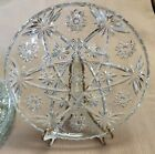 ANCHOR HOCKING EAPC 4 Dinner Plates Early American Prescut STAR OF DAVID