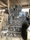 Antique Wrought Iron Fence 94 Feet Long Two 42 Inch Gates 6 Posts